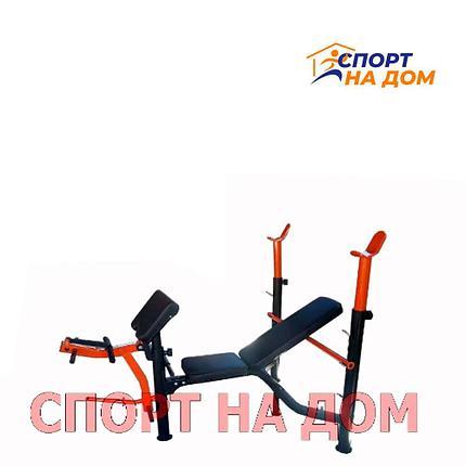 Скамья для жима штанги АМА-8833 UNTEY до 200 кг., фото 2