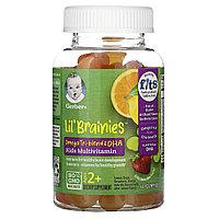 Gerber, Lil Brainies,мультивитаминная добавка, для детей от 2 лет, 60 жевательных мармеладок