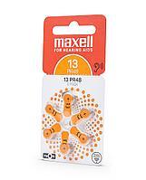 Батарейки для слухового аппарата PR48 (13) 6шт/уп Maxell, фото 2