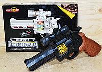 818B Пистолет Fire power  Imitate True револьвер свет/звук на батарейках 24*16, фото 1