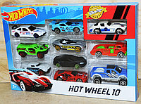 1110-15 Машинки Хот Вилс Hot Wheels  10 в 1 металл 28*19, фото 1