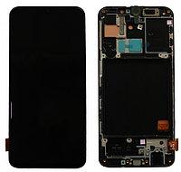 Дисплей Samsung Galaxy A40 (2019) A405, в сборе с сенсором с рамкой. SERVICEPACK, AMOLED