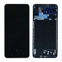 Дисплей Samsung Galaxy A70 (2019) A705, в сборе с сенсором, с рамкой SERVICEPACK, AMOLED