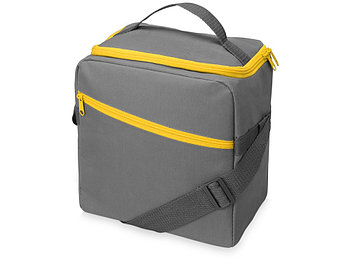 Изотермическая сумка-холодильник Classic c контрастной молнией, серый/желтый