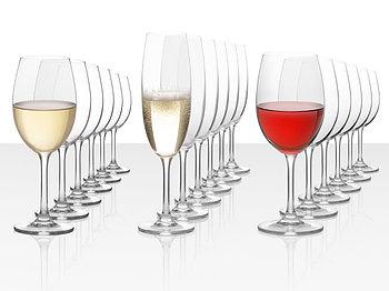 Подарочный набор бокалов для красного, белого и игристого вина Celebration, 18шт