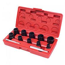 МАСТАК Набор торцевых головок для поврежденных гаек и болтов, 8-21 мм, кейс, кейс, 12 предметов МАСТАК
