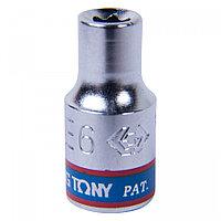 "KING TONY Головка торцевая TORX Е-стандарт 1/4"", E6, L = 24 мм KING TONY 237506M"