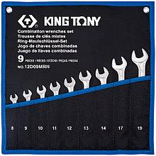 KING TONY Набор комбинированных ключей, 8-19 мм, чехол из теторона, 9 предметов KING TONY 12D09MRN