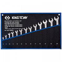 KING TONY Набор комбинированных ключей, 6-24 мм, чехол из теторона, 13 предметов KING TONY 12D13MRN
