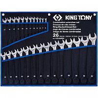 KING TONY Набор комбинированных ключей, 6-32 мм, чехол из теторона, 26 предметов KING TONY 12D26MRN