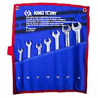 KING TONY Набор комбинированных удлиненных ключей, 8-19 мм, чехол из теторона, 7 предметов KING TONY 12C7MRN