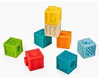 Happy Baby: Развивающая игрушка кубики-конструктор Funny Blocks