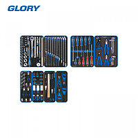 """KING TONY Набор инструментов """"GLORY"""" для тележки, 8 ложементов, 152 предмета KING TONY 9G35-152MRVD"""