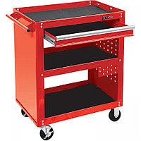 МАСТАК Тележка открытая, 3 полки и ящик, красная МАСТАК 520-01580R