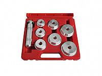 МАСТАК Набор оправок алюминиевых для подшипников, 40-65 мм, кейс, 8 предметов МАСТАК 100-20008C