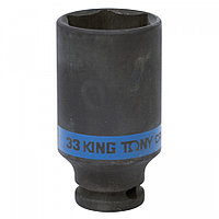 "KING TONY Головка торцевая ударная глубокая шестигранная 1/2"", 33 мм KING TONY 443533M"