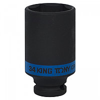 "KING TONY Головка торцевая ударная глубокая шестигранная 1/2"", 34 мм KING TONY 443534M"