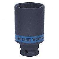 "KING TONY Головка торцевая ударная глубокая шестигранная 1/2"", 36 мм KING TONY 443536M"