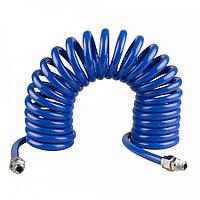 "KING TONY Шланг пневматический спиральный высокого давления 8х12 мм, 10 м, резьба 1/4"" KING TONY 79953-10"