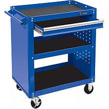 МАСТАК Тележка открытая, 3 полки и ящик, синяя МАСТАК 520-01580B
