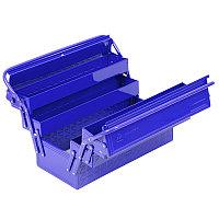 МАСТАК Ящик инструментальный раскладной, 5 отсеков, синий МАСТАК 510-05420B
