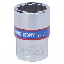 "KING TONY Головка торцевая стандартная двенадцатигранная 1/4"", 12 мм KING TONY 233012M"