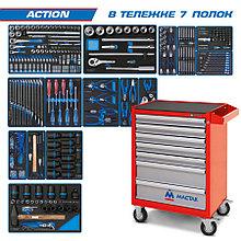 "KING TONY Набор инструментов ""ACTION"" в красной тележке, 327 предметов KING TONY 934-327AMR"