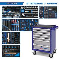 "KING TONY Набор инструментов ""ACTION"" в синей тележке, 327 предметов KING TONY 934-327AMB"