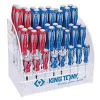 KING TONY Стенд со стандартными отвертками, серии 1421, 1422, 1423, 1427, 40 предметов KING TONY 31427MR