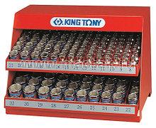 """KING TONY Стенд с торцевыми головками 1/2"""", 8-32 мм, серия 4330М, 172 предмета KING TONY 4072MR"""