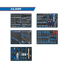 """KING TONY Набор инструментов """"CLAIM"""" для тележки, 13 ложементов, 286 предметов KING TONY 934-286MRVD"""