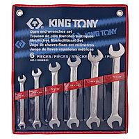 KING TONY Набор рожковых ключей, 8-19 мм, 6 предметов KING TONY 1106MR01