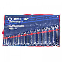 KING TONY Набор комбинированных ключей, 6-24 мм, 18 предметов KING TONY 1218MR01