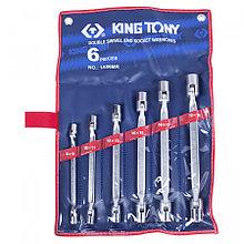KING TONY Набор торцевых ключей с шарниром, 8-19 мм, 6 предметов KING TONY 1A06MR