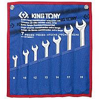 KING TONY Набор комбинированных удлиненных ключей, 8-19 мм, чехол из теторона, 7 предметов KING TONY 12C7MRN01