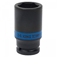 "KING TONY Головка торцевая ударная глубокая шестигранная 3/4"", 34 мм KING TONY 643534M"