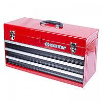 KING TONY Ящик инструментальный, 3 ящика и отсек, красный KING TONY 87401-3