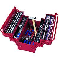 KING TONY Набор инструментов универсальный, раскладной ящик, 65 предметов KING TONY 902-065MR01