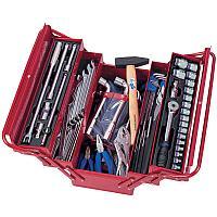 KING TONY Набор инструментов универсальный, раскладной ящик, 103 предмета KING TONY 902-103MR
