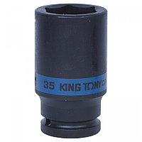 "KING TONY Головка торцевая ударная глубокая шестигранная 3/4"", 35 мм KING TONY 643535M"