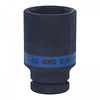 "KING TONY Головка торцевая ударная глубокая шестигранная 3/4"", 40 мм KING TONY 643540M"