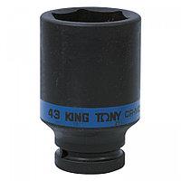 "KING TONY Головка торцевая ударная глубокая шестигранная 3/4"", 43 мм KING TONY 643543M"