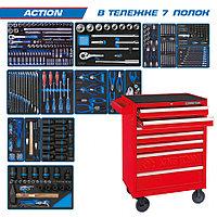 "KING TONY Набор инструментов ""ACTION"" в красной тележке, 327 предметов KING TONY 934-327MRV01"