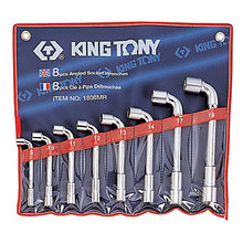 KING TONY Набор торцевых L-образных ключей, 8-19 мм, 8 предметов KING TONY 1808MR