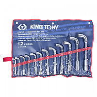 KING TONY Набор торцевых L-образных ключей, 8-24 мм, 12 предметов KING TONY 1812MR