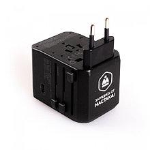 МАСТАК Адаптер переносной 100-240В / 5В USB TYPE-C МАСТАК ADB-201901