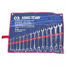 KING TONY Набор комбинированных ключей, 8-24 мм, 14 предметов KING TONY 1215MR01