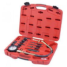 МАСТАК Компрессометр дизельный, 0-70 атм, комплект адаптеров МАСТАК 120-11070C