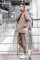 Женский осенний трикотажный бежевый спортивный спортивный костюм GO F3008/04-03.164-170 50р.