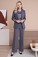 Женский осенний серый деловой нарядный деловой костюм Urs 21-488-3 42р.